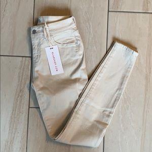 Wash Lab fat mid rise skinny jeans raw sugar 25